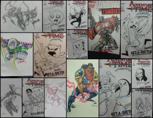 some of our commissions and sketchcovers